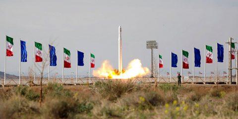 Photo of an Iranian rocket