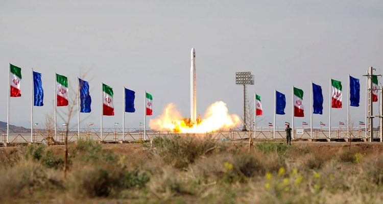 Photo of an Iranian rocket