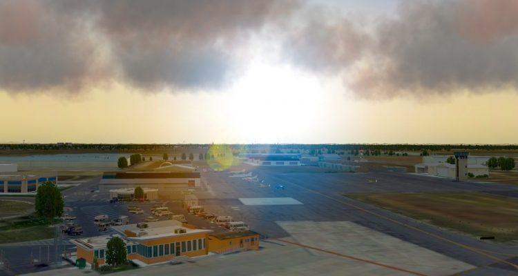 Aerial view of Merced Regional Airport