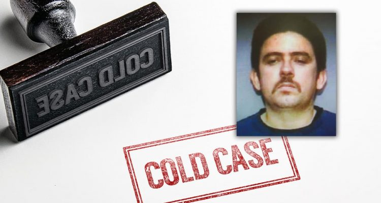 Composite of cold case images and the victim, Robert Jose Miralavi