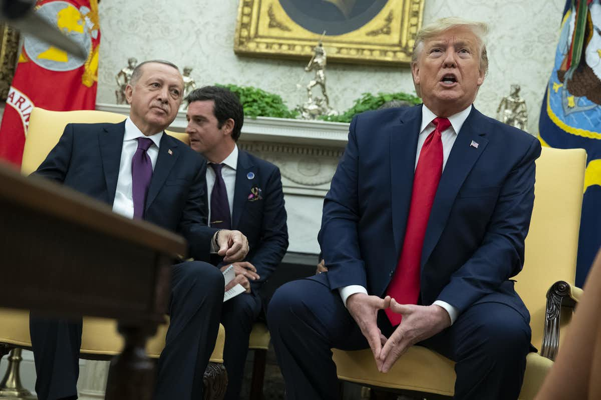 Photo of President Donald Trump with Turkish President Recep Tayyip Erdogan