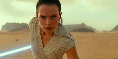 "Photo of Daisy Ridley as Rey in a scene from ""Star Wars: The Rise of Skywalker."""