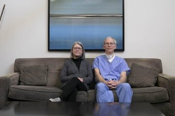 Photo of Debbie Rood and Dr. George Scott in their Manteca clinic