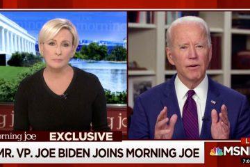 Photo of Joe Biden on MSNBC
