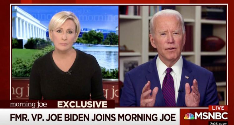 Photo of Joe Biden on MSNBC