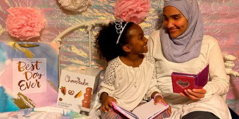 Photo of Melissa Mueller-Douglas and her 7-year-old daughter, Nurah