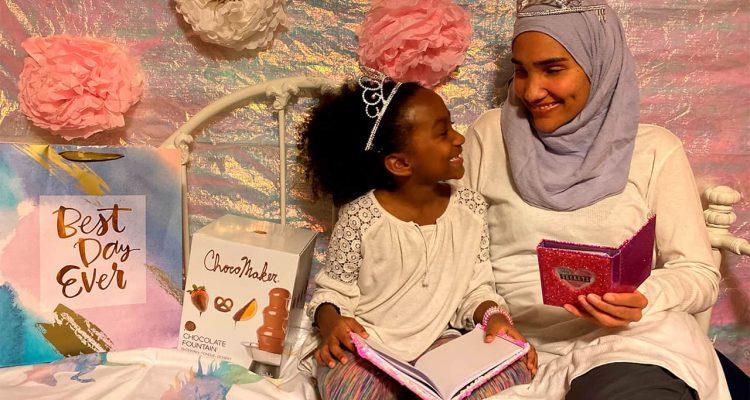 Photo of Melissa Mueller-Douglas and her 7-year-old daughter, Nurah