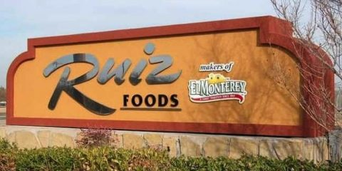Photo of Ruiz Foods sign