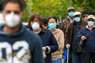 Photo of people wearing face masks