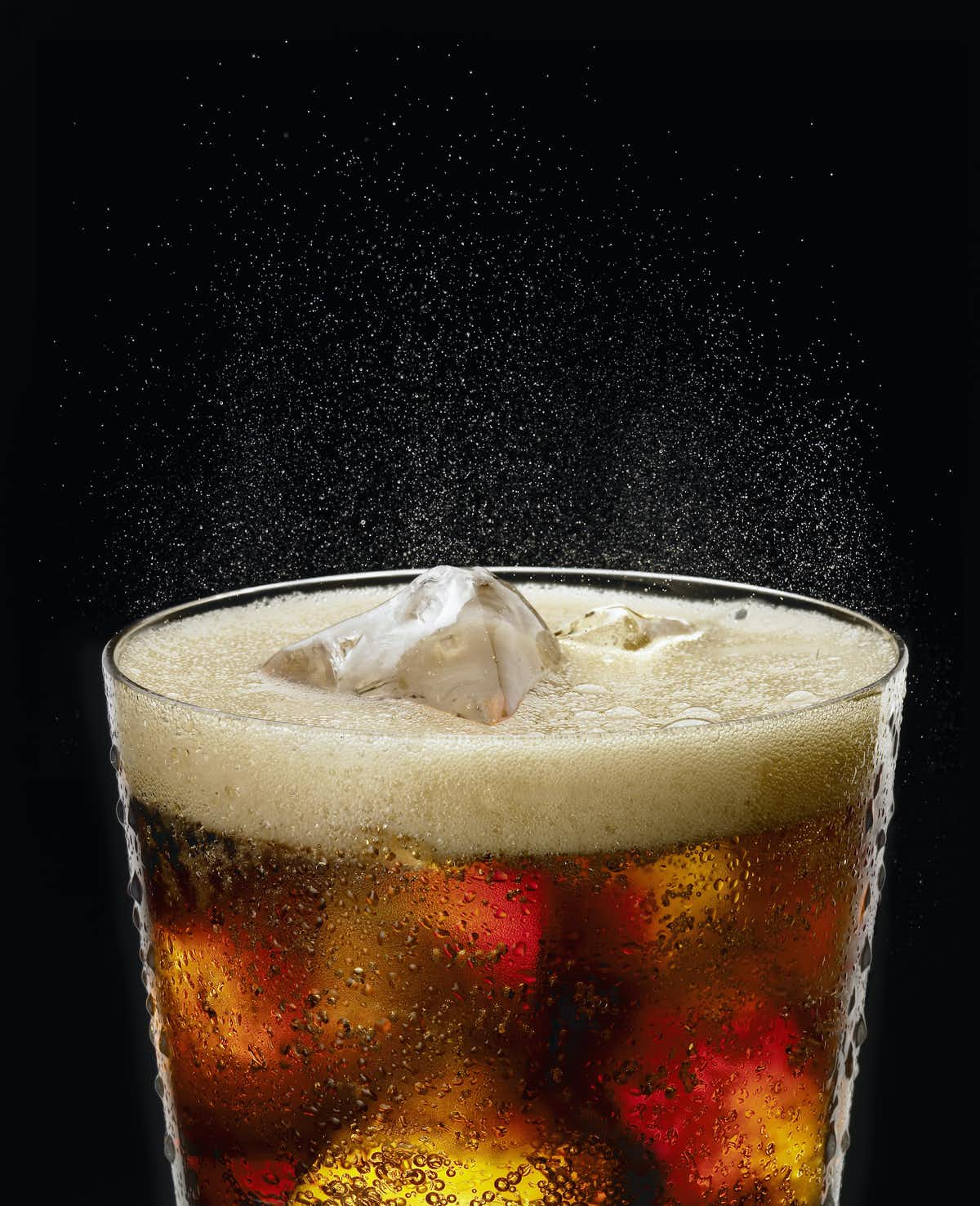 Photo of a glass of soda