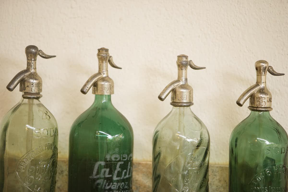 Photo of seltzer bottles