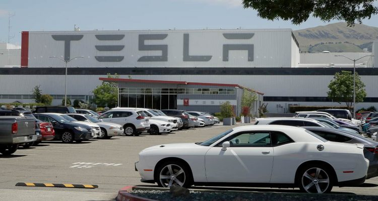 Photo of a Tesla car plant