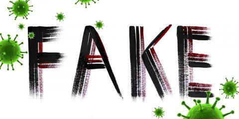 """The word """"fake"""" and coronavirus circles"""