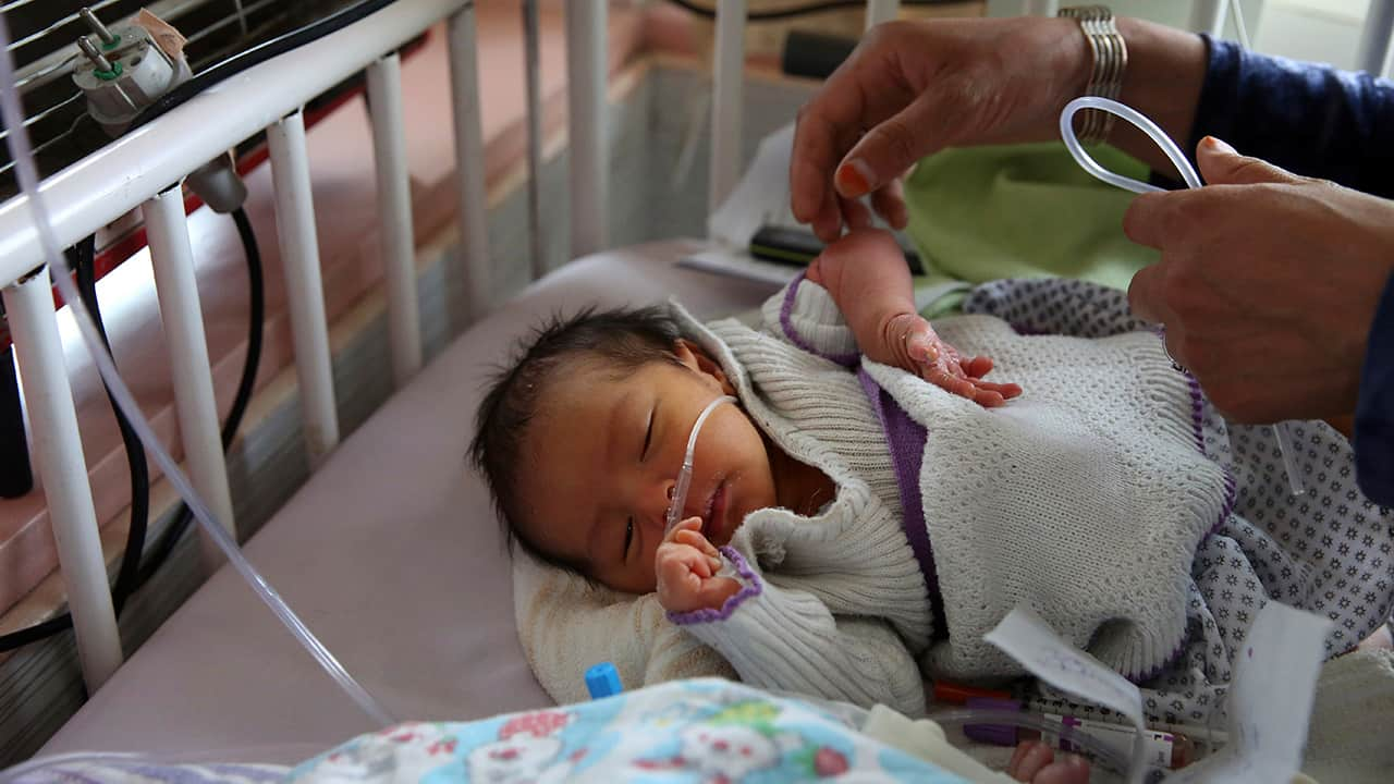 Photo of a baby in Kabul