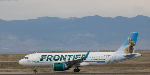 Photo of a Frontier airplane