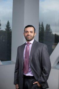 Environmental portrait of Dr. Amir S. Kahnaorn