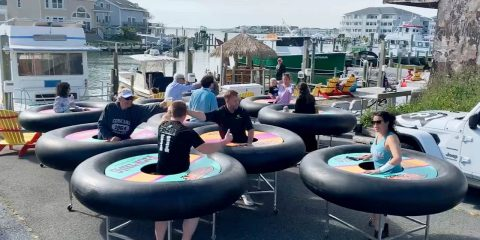 Photo of bumper tables in Ocean City