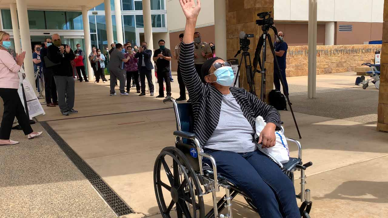 After Fighting for Her Life, Clovis Community COVID Patient Goes Home