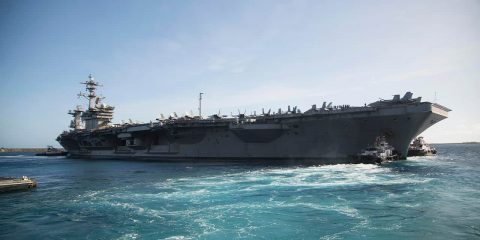 Photo of the aircraft carrier USS Theodore Roosevelt