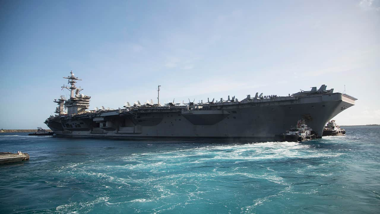 Aircraft Carrier Returns to Sea After Coronavirus Outbreak