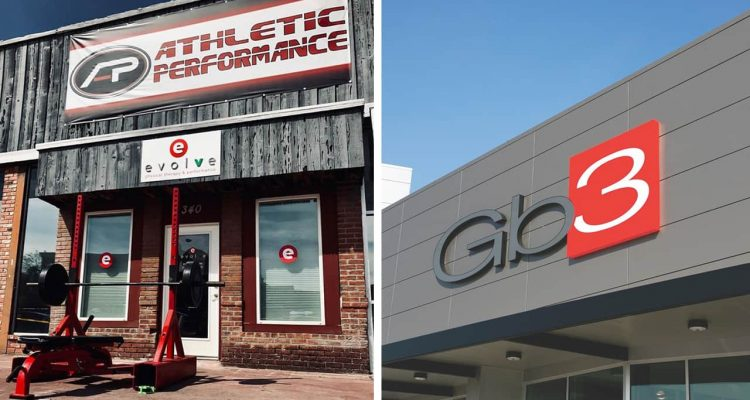 Pictures of the exteriors of Athletic Performance Fitness in Clovis and GB3
