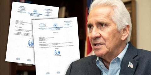Image of Rep. Jim Costa (D-Fresno) and his letters to the Clerk of the House