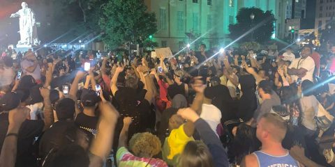 Photo of protests in Louisville