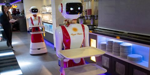 Photo of a robot waiter