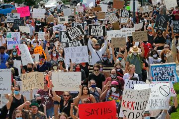 Photo of protesters in Salt Lake City