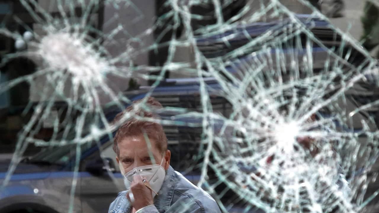 Photo of a broken window