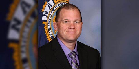 Portrait of Madera County interim sheriff Tyson Pogueu