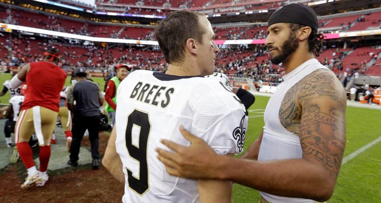 Photo of Drew Brees and Colin Kaepernick