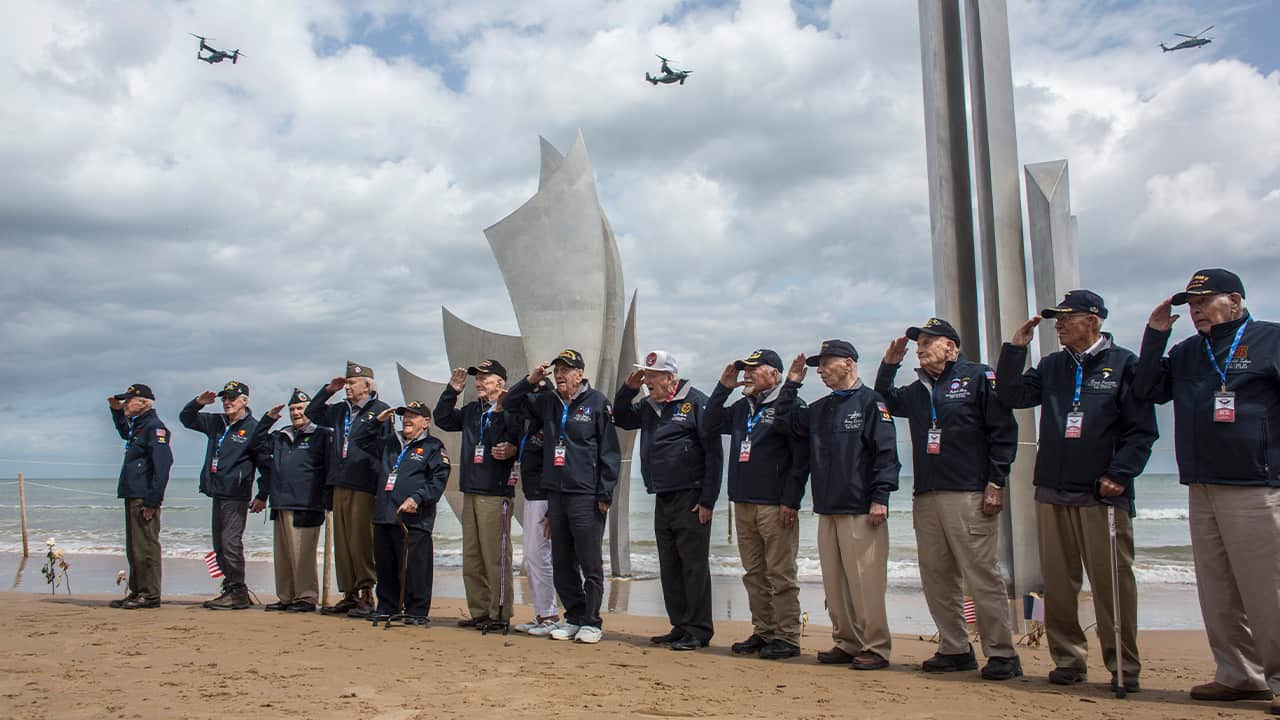 Photo of WWII veterans
