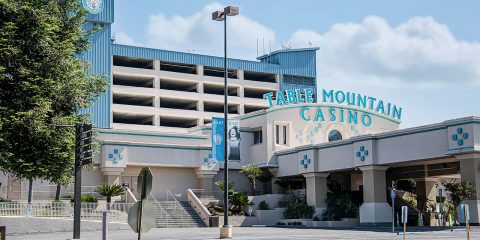 Photo of the entrance to Table Mountain Casino in Friant, California