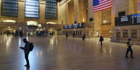 Photo of an empty Grand Central Station