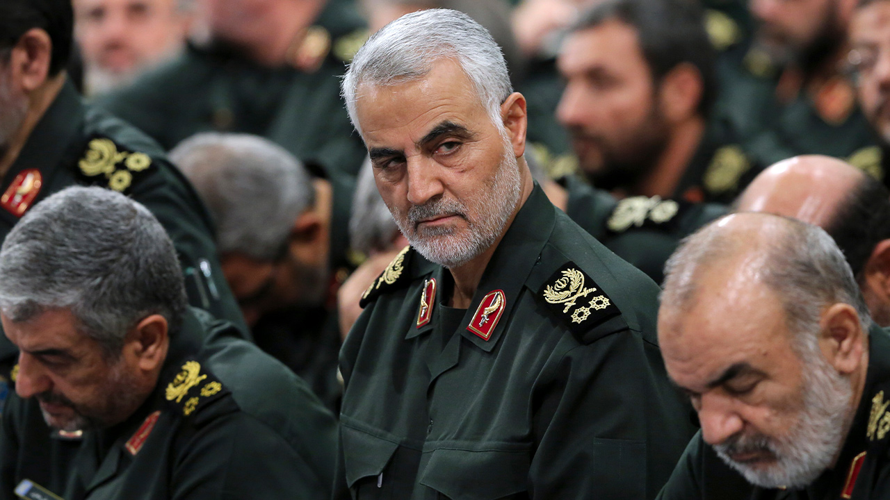 Photo of Iranian supreme leader, Revolutionary Guard Gen. Qassem Soleimani
