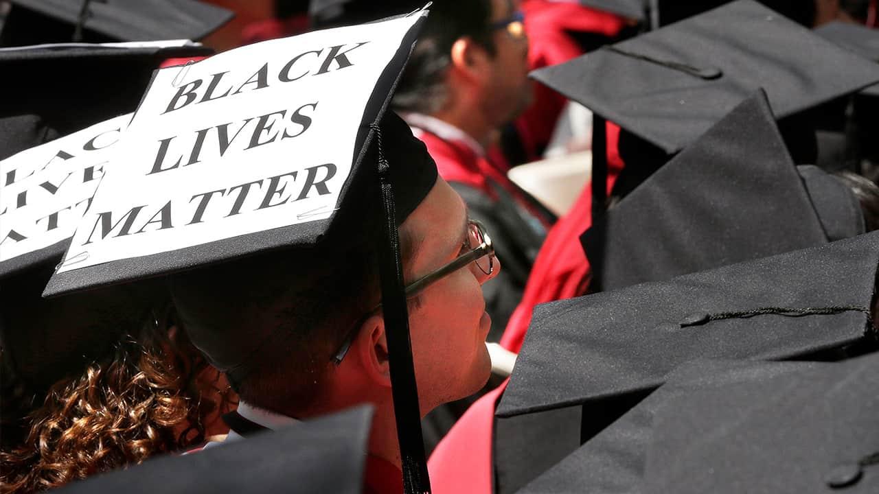 Photo of a student's graduation cap