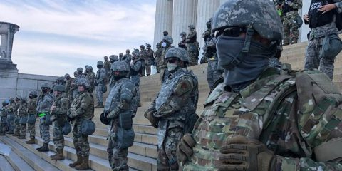 Image of MPs on the steps of the Lincoln Memorial