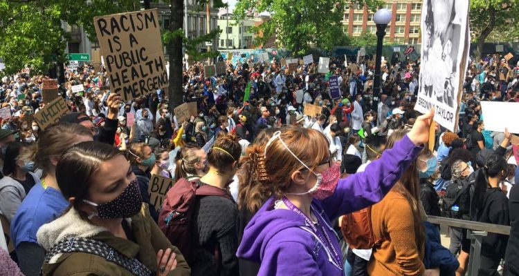Photo of protests in Seattle