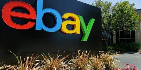 Photo of an eBay sign