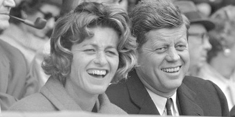 Photo of President John F. Kennedy and his sister, Jean Kennedy Smith