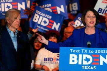 Photo of Joe Biden and Amy Klobuchar