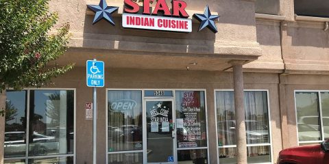Image of the exterior of Star Indian Cuisine in northwest Fresno, California