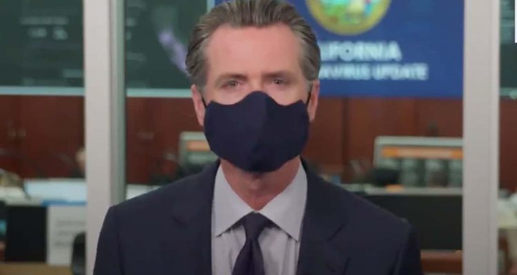 Photo of Gov. Gavin Newsom wearing a mask