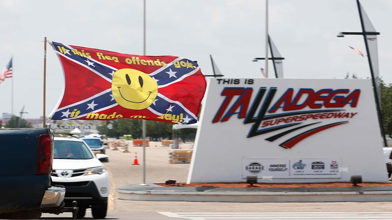Photo of a confederate flag