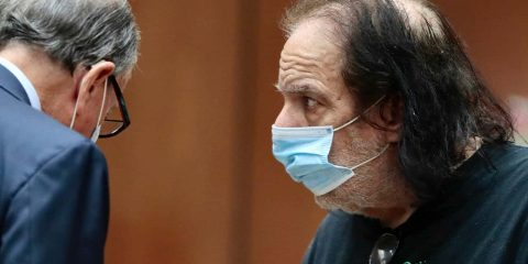 Photo of Ron Jeremy in court