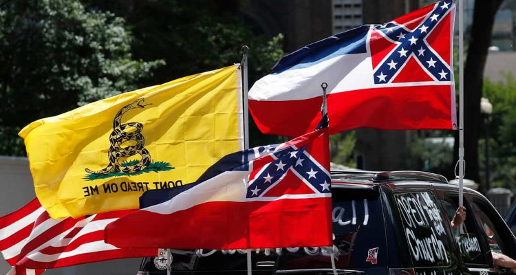 Photo of Mississippi flags