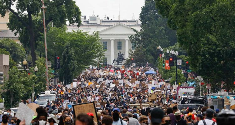 Photo of protests in Washington