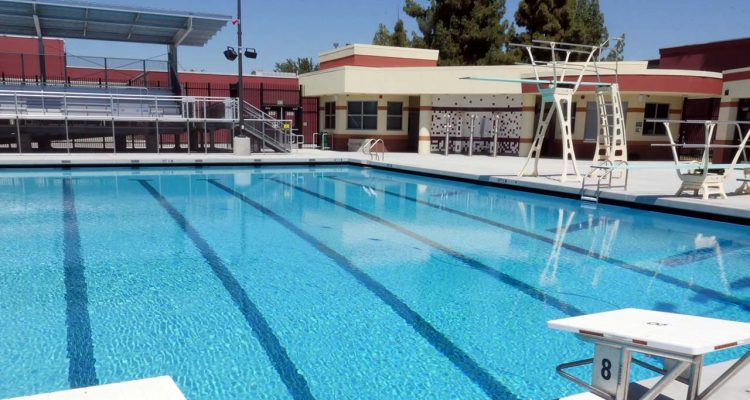 Image of new swimming complex at McLane High School