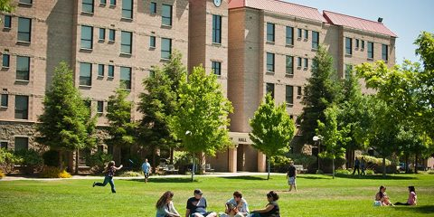 Image of Fresno Pacific University main campus in southeast Fresno